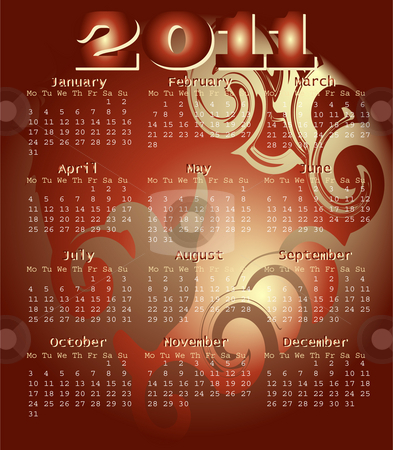 2011 Calender bronze head illustration  stock photo, 2011 Calender bronze head illustration by Celia Anderson