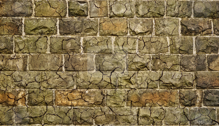 Dirty stone grunge wall with cracks stock photo, Dirty stone grunge wall with cracks in hdr style. by Fotosutra.com