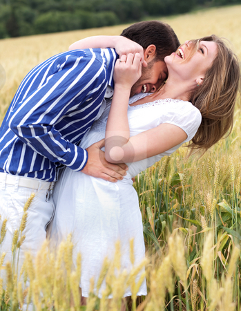 Embrassing couple hugging stock photo, Embrassing couple hugging in the park by Get4net