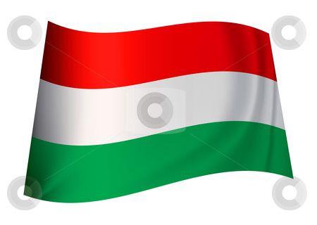 Hungry flag stock vector clipart, Hungarian flag icon from the country nation of hungary by Michael Travers