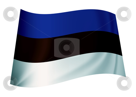 Estonia flag stock vector clipart, Flag from the estonian nation or estonia icon symbol by Michael Travers