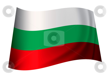 Bulgaria flag stock vector clipart, Bulgarian flag icon from the contry of bulgaria in white green and red by Michael Travers