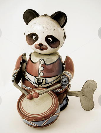 Panda stock photo, Old panda toy by Charles Taylor