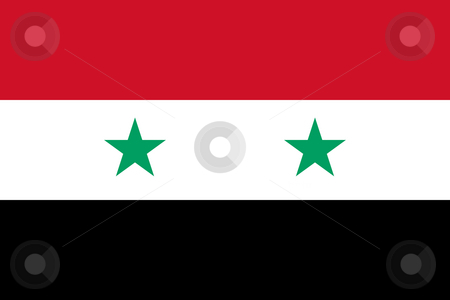 Syria Flag stock photo, Sovereign state flag of country of Syria in official colors. by Martin Crowdy