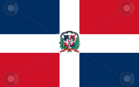 Dominican Republic flag stock photo, Sovereign state flag of country of Dominican Republic in official colors. by Martin Crowdy