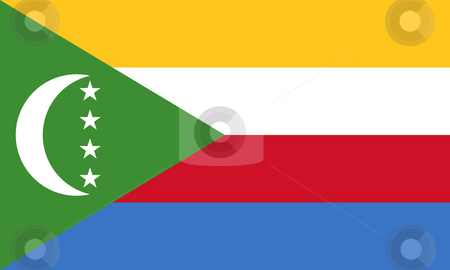 Comoros Flag stock photo, Sovereign state flag of country of Comoros in official colors. by Martin Crowdy