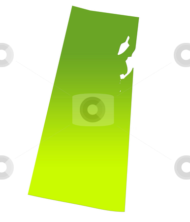 Saskatchewan map stock photo, Saskatchewan province of Canada map in gradient green, isolated on white background. by Martin Crowdy