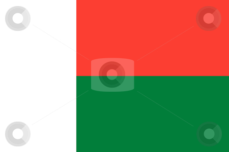 Madagascar Flag stock photo, Sovereign state flag of country of Madagascar in official colors. by Martin Crowdy