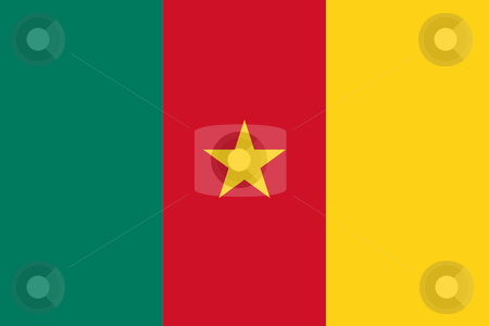 Cameroon Flag stock photo, Sovereign state flag of country of Cameroon in official colors. by Martin Crowdy