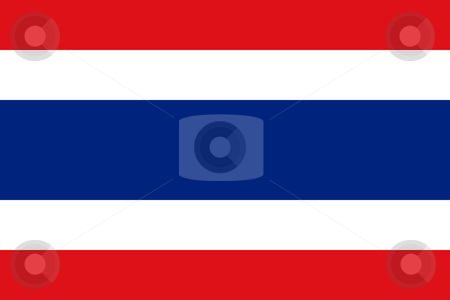 Thailand Flag stock photo, Sovereign state flag of country of Thailand in official colors. by Martin Crowdy