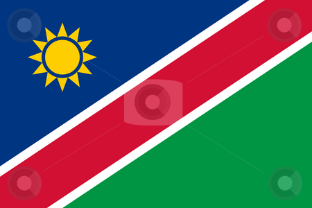 Namibia Flag stock photo, Sovereign state flag of country of Namibia in official colors. by Martin Crowdy