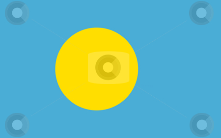 Palau Flag stock photo, Sovereign state flag of country of Palau in official colors. by Martin Crowdy