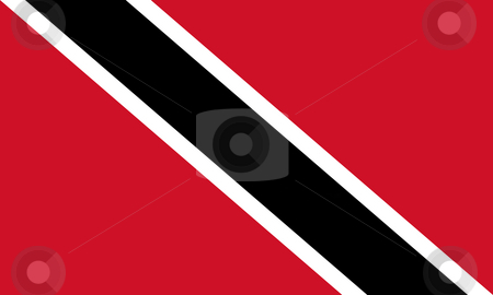 Trinidad and Tobago flag stock photo, Sovereign state flag of country of Trinidad and Tobago in official colors. by Martin Crowdy