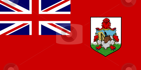Bermuda Flag stock photo, Sovereign state flag of dependent country of Bermuda in official colors. by Martin Crowdy