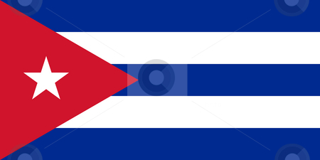 Cuba Flag stock photo, Sovereign state flag of country of Cuba in official colors. by Martin Crowdy