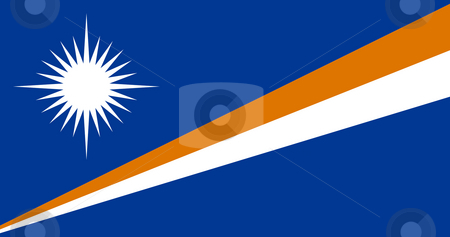 Marshall Islands stock photo, Sovereign state flag of country of Marshall Islands in official colors. by Martin Crowdy