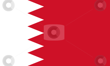 Bahrain Flag stock photo, Sovereign state flag of country of Bahrain in official colors. by Martin Crowdy
