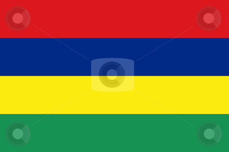 Mauritius Flag stock photo, Sovereign state flag of country of Mauritius in official colors. by Martin Crowdy