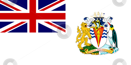 British Antactic Territory Flag stock photo, Sovereign state flag of dependent country of British Antarctic Territory in official colors. by Martin Crowdy