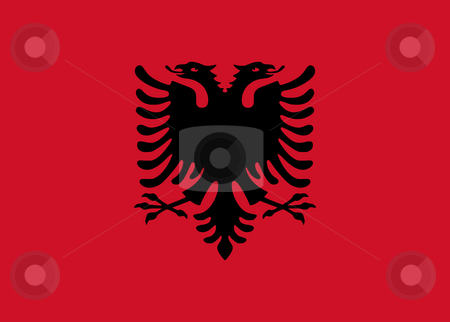 Albania Flag stock photo, Sovereign state flag of country of Albania in official colors. by Martin Crowdy