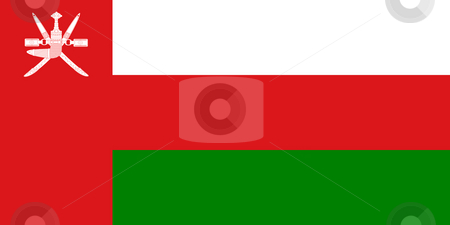 Oman Flag stock photo, Sovereign state flag of country of Oman in official colors. by Martin Crowdy