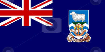 Falkland Islands stock photo, Sovereign state flag of dependent country of Falkland Islands in official colors. by Martin Crowdy