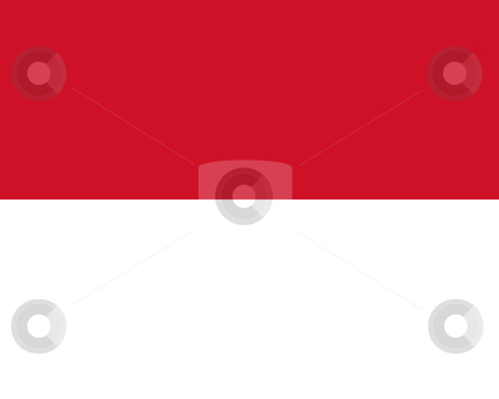 Monaco Flag stock photo, Sovereign state flag of country of Monaco in official colors. by Martin Crowdy