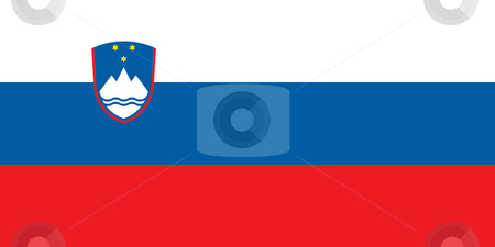 Slovenia Flag stock photo, Sovereign state flag of country of Slovenia in official colors. by Martin Crowdy
