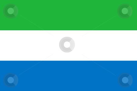 Sierra Leone Flag stock photo, Sovereign state flag of country of Sierra Leone  in official colors. by Martin Crowdy