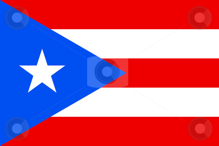 Puerto Rico stock photo, Sovereign state flag of dependent country of Puerto Rico in official colors. by Martin Crowdy