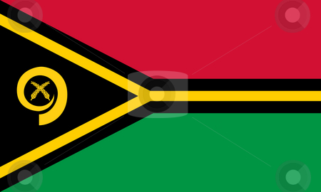 Vanuatu Flag stock photo, Sovereign state flag of country of Vanuatu in official colors. by Martin Crowdy