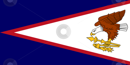 American Samoa Flag stock photo, Sovereign state flag of dependent country of American Samoa in official colors. by Martin Crowdy