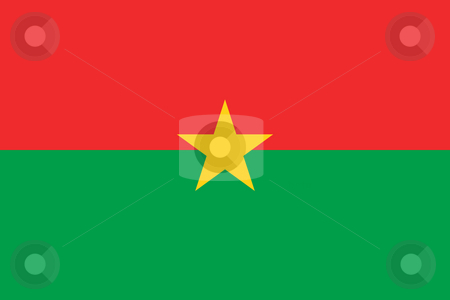 Burkina Faso stock photo, Sovereign state flag of country of Burkina Faso in official colors. by Martin Crowdy