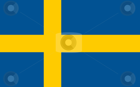 Sweden Flag stock photo, Sovereign state flag of country of Sweden in official colors. by Martin Crowdy