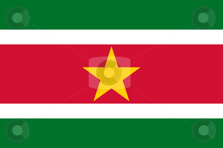Suriname Flag stock photo, Sovereign state flag of country of Suriname in official colors. by Martin Crowdy