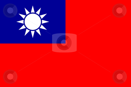 Republic of China flag stock photo, Sovereign state flag of country of Republic of China in official colors. by Martin Crowdy