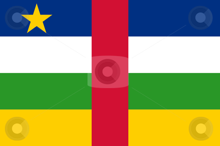 Central African Republic flag stock photo, Sovereign state flag of country of Central African Republic in official colors. by Martin Crowdy