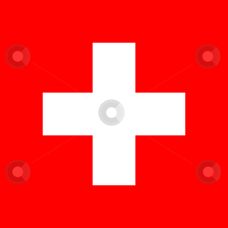 Switzerland Flag stock photo, Sovereign state flag of country of Switzerland in official colors. f by Martin Crowdy