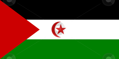 Western Sahara Flag stock photo, Sovereign state flag of country of Western Sahara in official colors. by Martin Crowdy