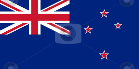 New Zealand flag stock photo, Sovereign state flag of country of New Zealand in official colors. by Martin Crowdy