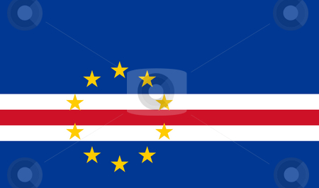 Cape Verde flag stock photo, Sovereign state flag of country of Cape Verde in official colors. by Martin Crowdy