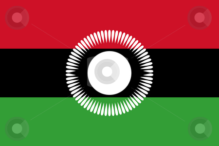 Malawi Flag stock photo, Sovereign state flag of country of Malawi in official colors. by Martin Crowdy