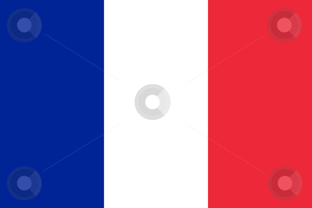 France Flag stock photo, Sovereign state flag of country of France in official colors. by Martin Crowdy