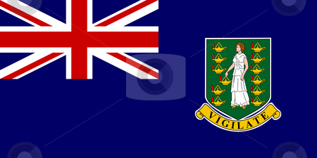 British Virgin Islands stock photo, Sovereign state flag of dependent country of British Virgin Islands in official colors. by Martin Crowdy
