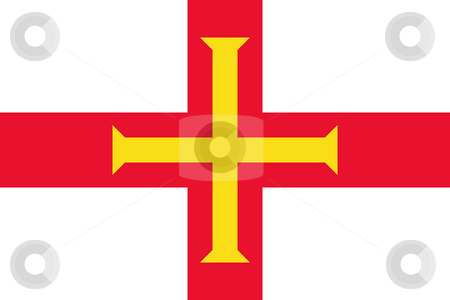 Guernsey Flag stock photo, Sovereign state flag of dependent country of Guernsey in official colors. by Martin Crowdy