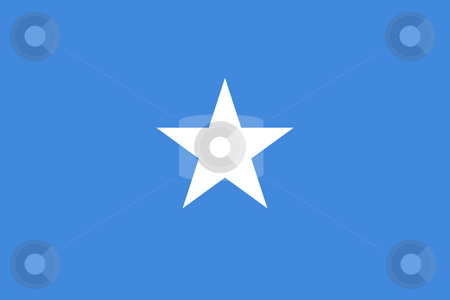 Somalia Flag stock photo, Sovereign state flag of country of Somalia in official colors. by Martin Crowdy