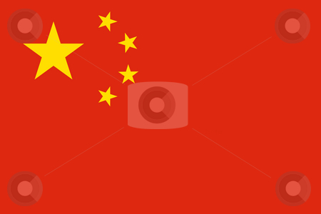 Peoples Republic of China flag stock photo, Sovereign state flag of country of Peoples Republic of China in official colors. by Martin Crowdy