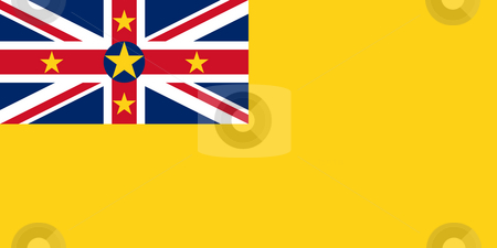 Niue Flag stock photo, Sovereign state flag of dependent country of Niue in official colors. by Martin Crowdy