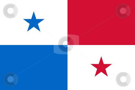 Panama Flag stock photo, Sovereign state flag of country of Panama in official colors. by Martin Crowdy