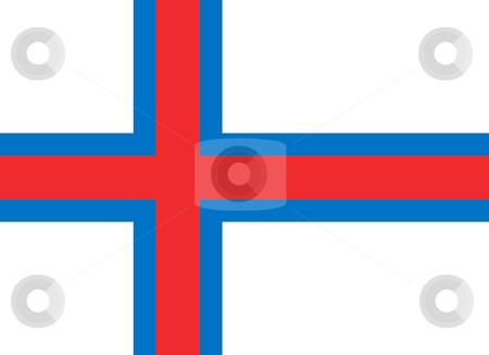 Faroe Islands stock photo, Sovereign state flag of dependent country of Faroe Islands in official colors. by Martin Crowdy